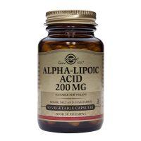 Alpha Lipoic Acid 200mg Solgar 50cps