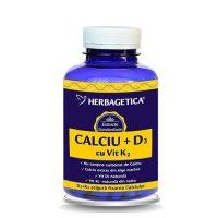 Calciu cu D3 Si K2 Herbagetica 120cps