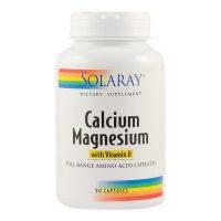 Calcium Magnezium With Vitamin D Secom Solaray 90cps
