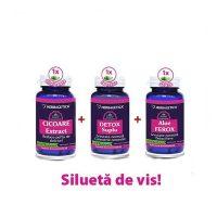 Pachet Cicoare +Detox Suplu +Aloe Ferox Herbagetica 60cps