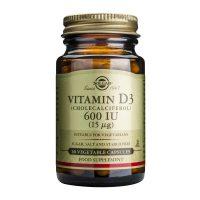 Vitamina D3 600 UI Solgar (Colecalciferol) 15 mcg 60cps